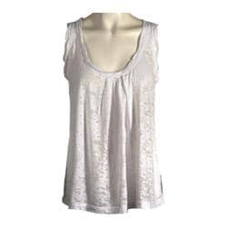 Women's Ojai Clothing Burnout Retro Tank White