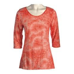 Women's Ojai Clothing Burnout Scoop Neck Orange Sunset