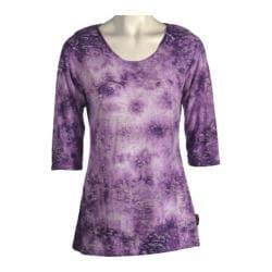 Women's Ojai Clothing Burnout Scoop Neck Orchid