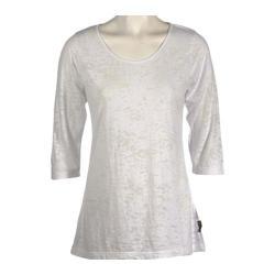Women's Ojai Clothing Burnout Scoop Neck White
