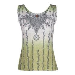 Women's Ojai Clothing Burnout Tank Green Oasis Henna