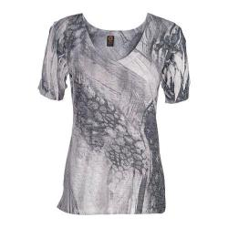 Women's Ojai Clothing Burnout Vee Dove Grey Pebble Creek