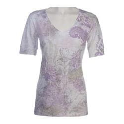 Women's Ojai Clothing Burnout Vee Purple Berry Wildflower