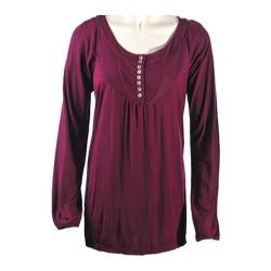 Women's Ojai Clothing Comfy Long Top Plum Purple