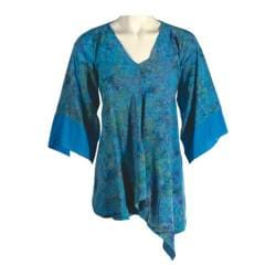 Women's Ojai Clothing Floaty Asymmetrical Top Nile Blue
