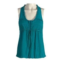 Women's Ojai Clothing Gypsy Racer Back Top Turquoise