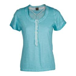 Women's Ojai Clothing Raw Edge Henley Patina