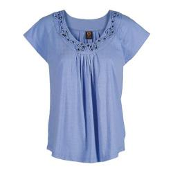 Women's Ojai Clothing Swing Tee Blue Cornflower