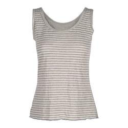 Women's Ojai Clothing Topa Tank Natural/Heather Grey