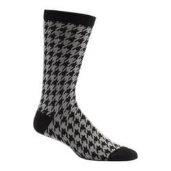 Men's Ozone Houndstooth Crew Socks (2 Pairs) Black