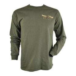 Peace Frogs Wild Tree Frog Long Sleeve T-Shirt Military Green