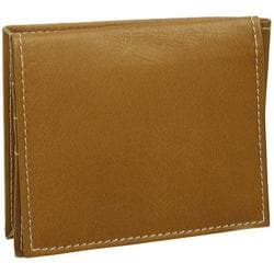 Piel Leather Money Clip With ID Window 2859 Saddle Leather