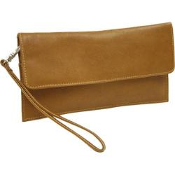 Piel Leather Travel Wallet 2855 Saddle Leather