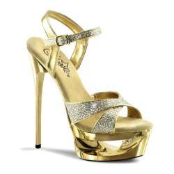 Women's Pleaser Eclipse 619G Gold Multi Glitter/Gold Chrome