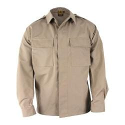 Men's Propper BDU 2-Pocket Shirt Long Sleeve 65P/35C Long Khaki