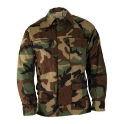Men's Propper BDU 4-Pocket Coat Cotton Short Woodland Camo
