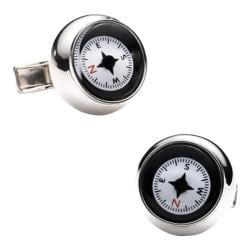 Men's Ravi Ratan Sterling Silver Compass Cufflinks Silver