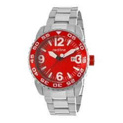 Men's Red Line RL-60016 Silver Polished/Brushed Stainless Steel/Red