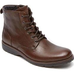 Men's Rockport Total Motion Street Plain Boot Coach Brown Leather