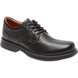 Men's Rockport Classics Revised Center Seam Black Tumbled Pull Up Leather
