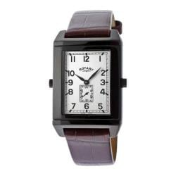 Men's Rotary ROTARY-GS02961-04-22 Brown Leather/Black/Silver