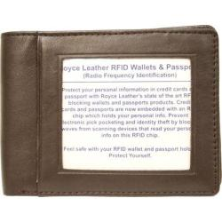 Royce Leather RFID Blocking Double ID Flat Fold Wallet 007-5 Coco