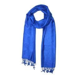 Women's SAACHI Paisley Jacquard Scarf Blue