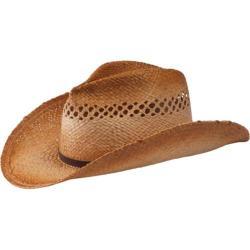 Women's San Diego Hat Company Cowboy Hat w/ Leather Trim RHC1070 Tea