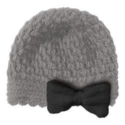 Women's San Diego Hat Company Bow Beanie KNH3138 Grey/Black