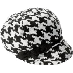 Women's San Diego Hat Company Bow Cap CTH3082 White/Black