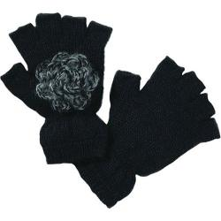 Women's San Diego Hat Company Fingerless Gloves KNG3084 Black