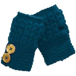 Women's San Diego Hat Company Knit Button Fingerless Gloves KNG3132 Teal