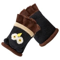 Women's San Diego Hat Company Knit Owl Fingerless Gloves KNG3134 Owl