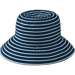 Women's San Diego Hat Company Ribbon Braid Small Brim Hat RBS244 Navy/White
