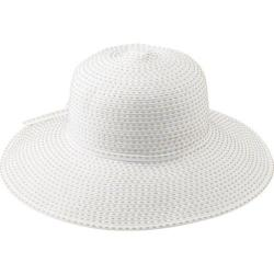 Women's San Diego Hat Company Ribbon Floppy White