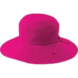 Women's San Diego Hat Company Ribbon Medium Brim Floppy RBM202 Berry