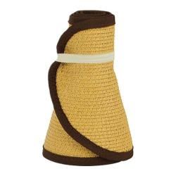 Women's San Diego Hat Company Ultrabraid Large Brim Visor UBV002 Camel/Brown