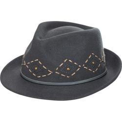 Women's San Diego Hat Company Western Felt Fedora CHA6442 Grey