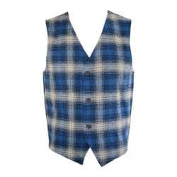 Men's Saryan's Arthur Casual Flannel Vest Blue