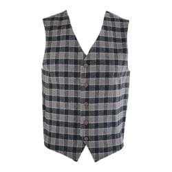 Men's Saryan's Arthur Casual Flannel Vest Brown