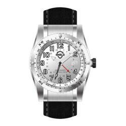 Men's Shield Watches SH0102 Nuno Black Suede/Silver