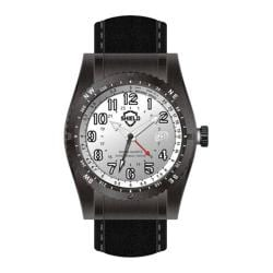 Men's Shield Watches SH0105 Nuno Black Suede/Silver