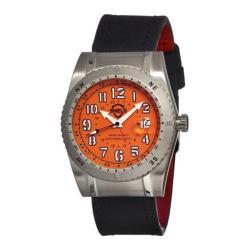 Men's Shield Watches SH0106 Nuno Watch Silver Leather/Orange