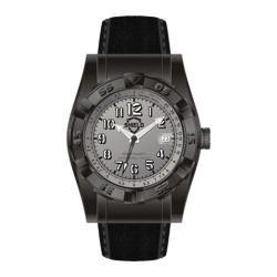 Men's Shield Watches SH0403 Jarrod Black Suede/Grey
