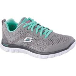 Women's Skechers Flex Appeal Obvious Choice Gray/Turquoise
