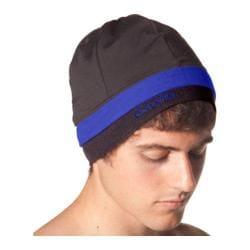 SportHill SwiftPro Tall Stripe Beanie Black/Intense Blue