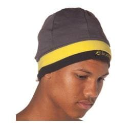 SportHill SwiftPro Tall Stripe Beanie Warm Gray/Day Glow