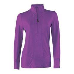 Women's Terramar Climasense Thermolator 2.0 1/2 Zip Purple Rain