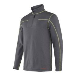 Men's Terramar Ecolator Fleece 3.0 1/2 Zip Smoke/Limeade