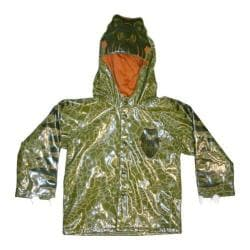 Boys' Western Chief Dinosaur Raincoat Olive